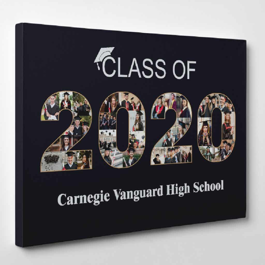 Graduation Collage Canvas Print from 365canvas