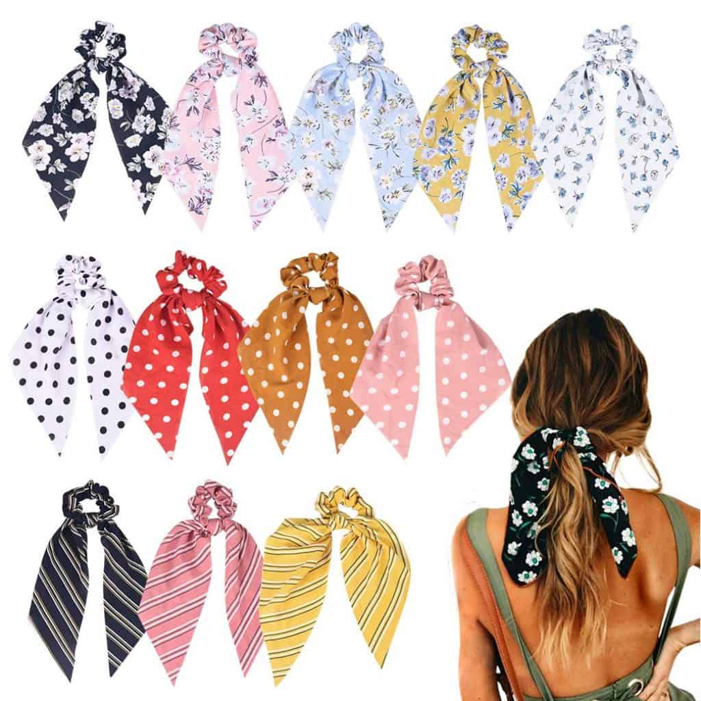 Hair Scrunchies in many different colors