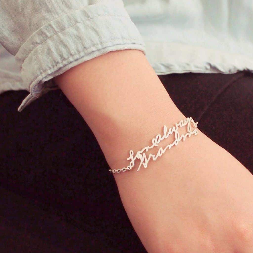 Handwriting Bracelet - gifts for teen girls