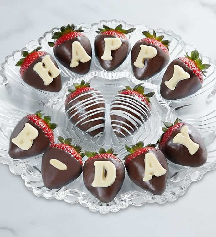 Happy Birthday Chocolate Covered Strawberries For her