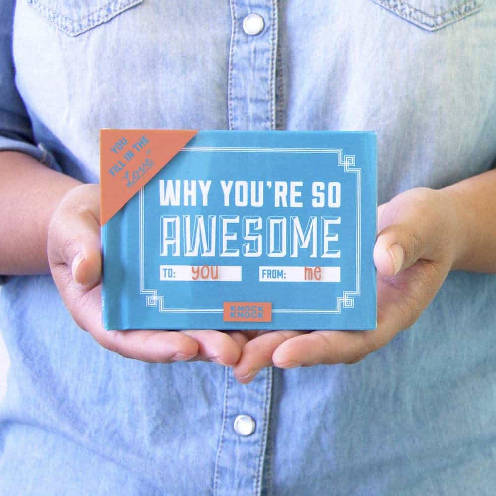 Knock Knock Why You're So Awesome Fill in the Love Book Fill-in-the-Blank Gift Journal For Her