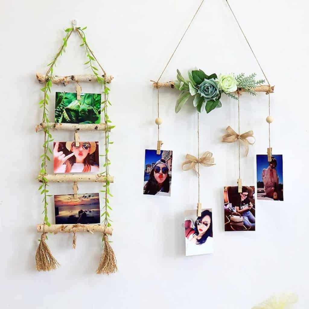 Natural Wooden Photo Hanger