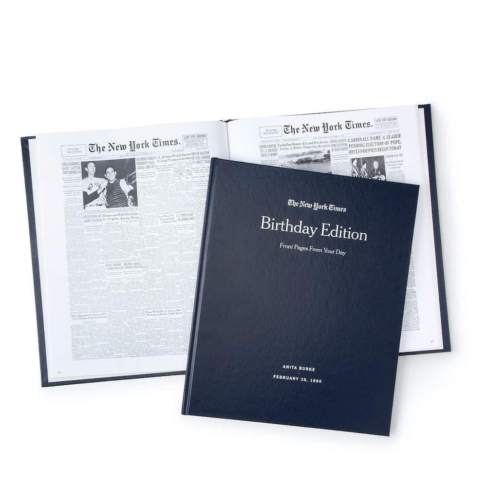 New York Times Custom Birthday Book For Her