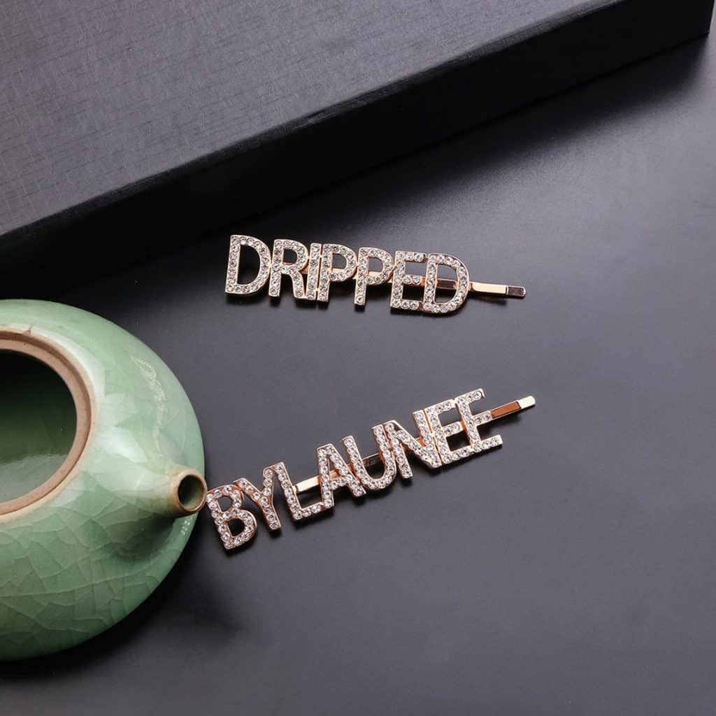 2 Personalized Hair Clips - best gifts for teen girls