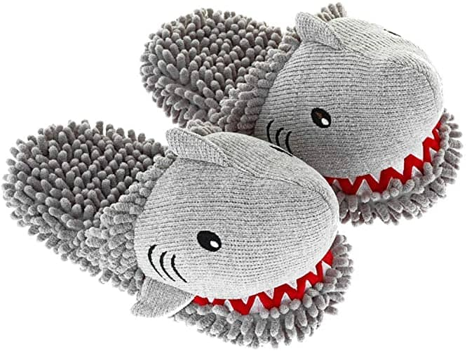 Shark Warm Slippers in gray color - gifts for teen girls