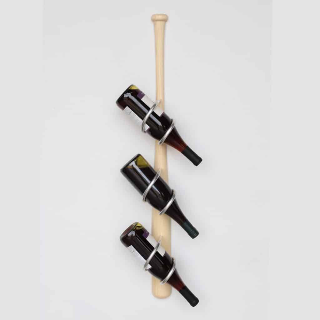 Baseball Bat Wall Mounted Wine Rack