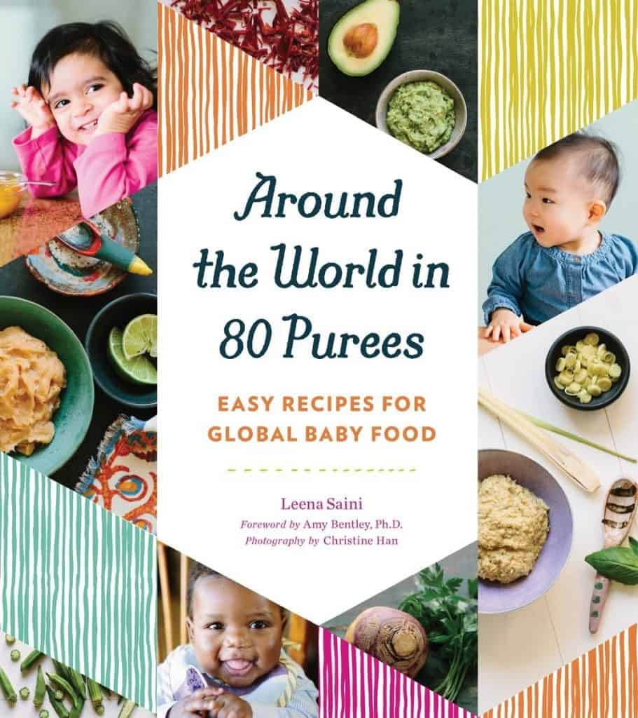 mom to be baby shower gift ideas: around the world in 80 purees cookbook