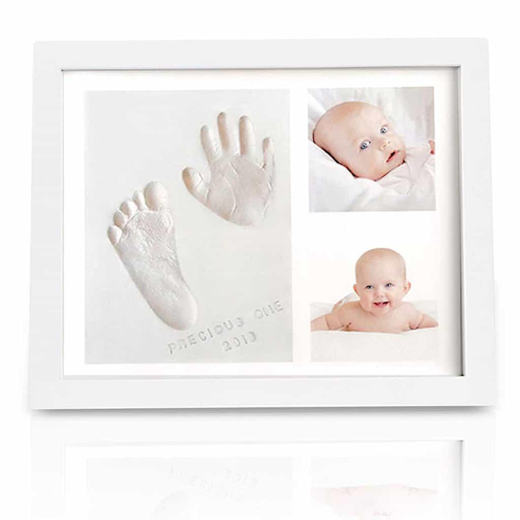 baby shower gift for mom: baby handprint and footprint keepsake kit