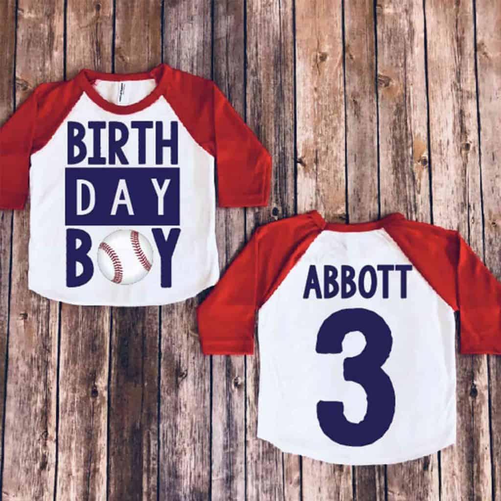 Red baseball birthday shirt - cool baseball gifts