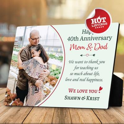 happy anniversary mom and dad plaque