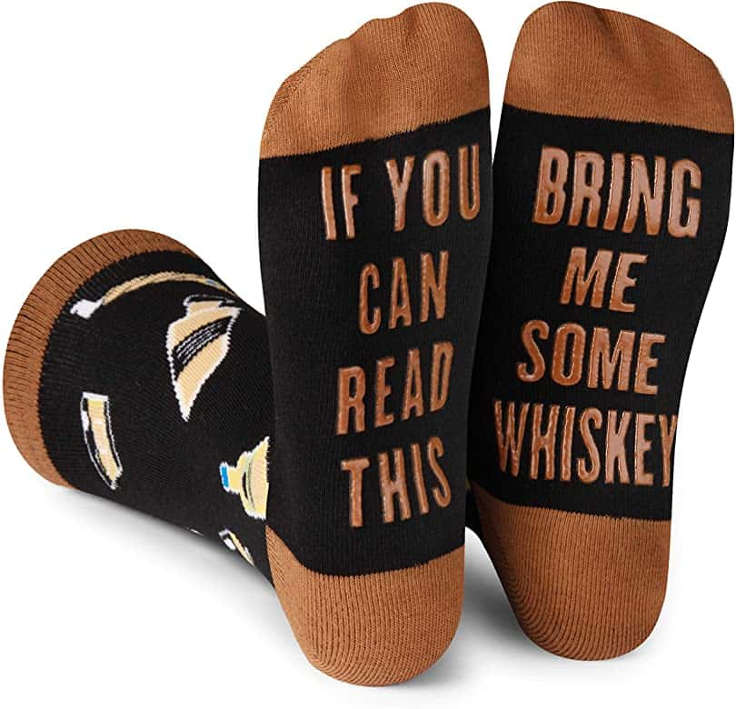 funny gift ideas for men: if you can read this socks