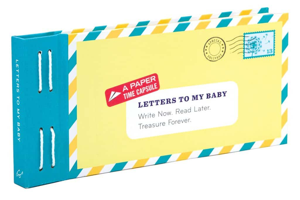 creative gift ideas for mom at baby shower: letters to my baby