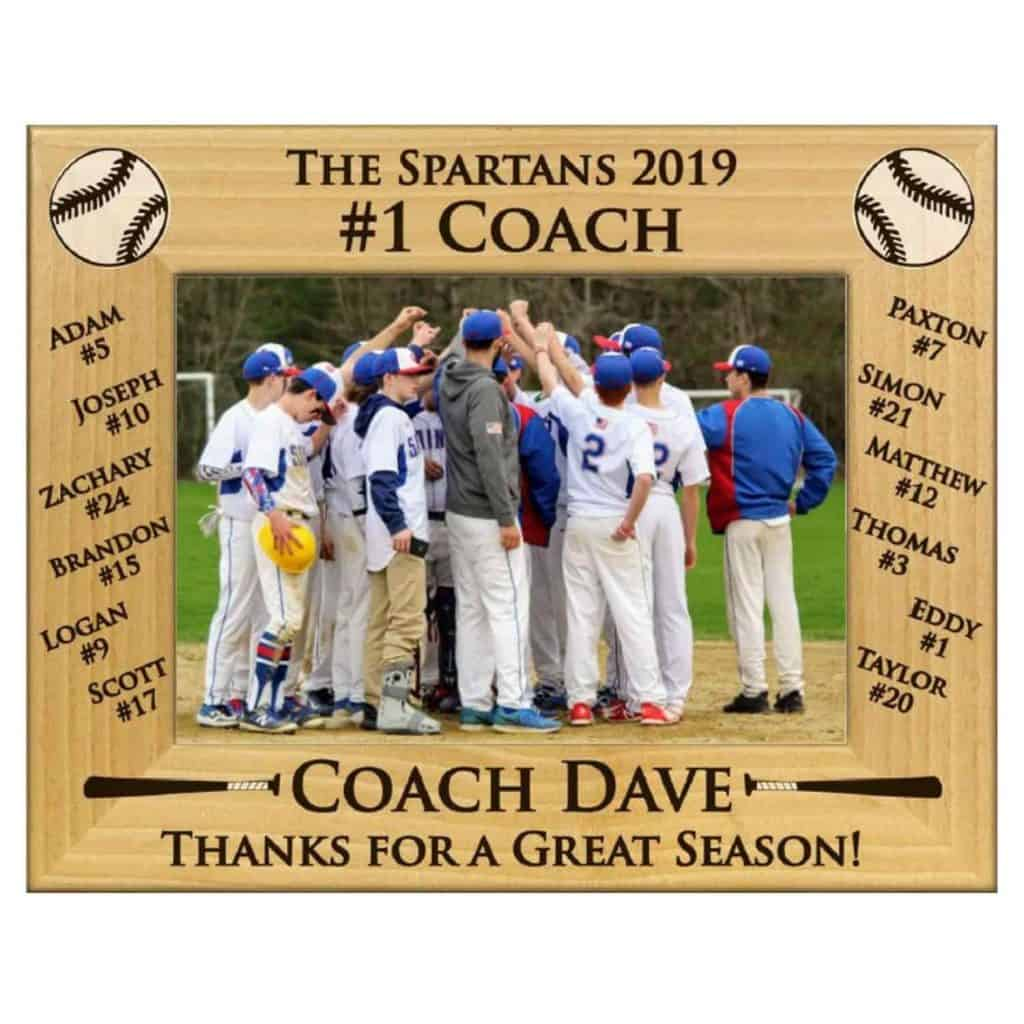 Coach Personalized Photo Frame