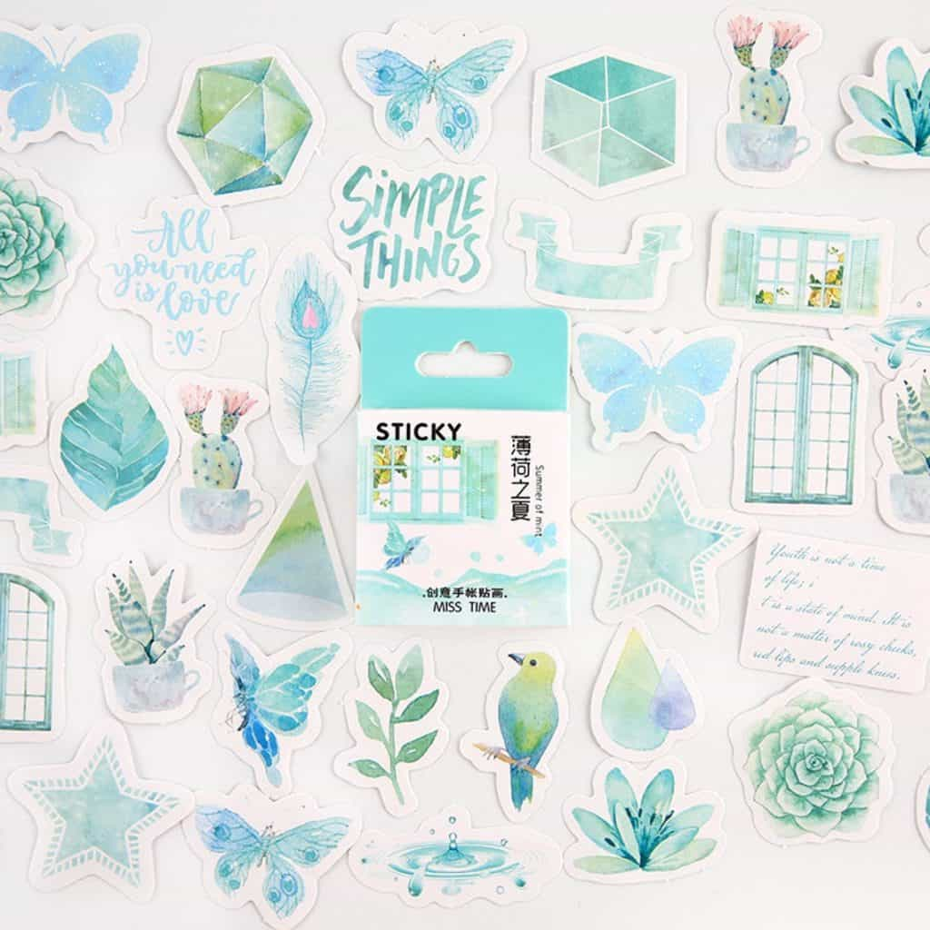 Stickers Pack in blue color - gifts for teen girls