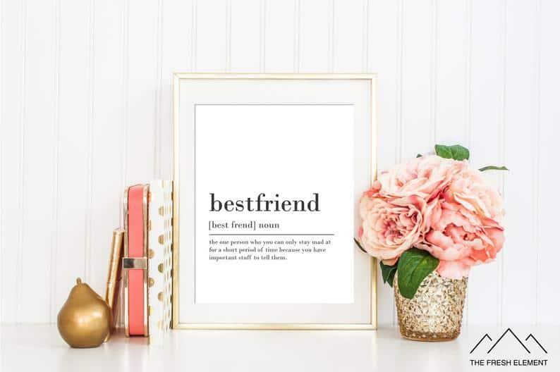 Best Friend Definition Print
