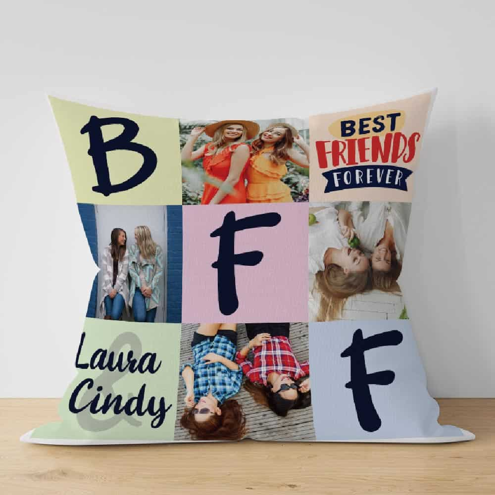 Best Friends Forever BFF Custom Photo Pillow