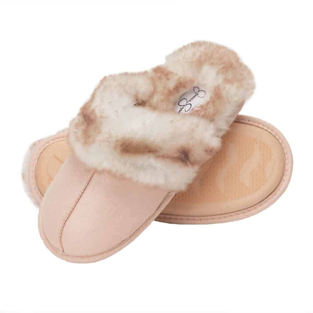 gift for friend: Faux Fur House Slippers