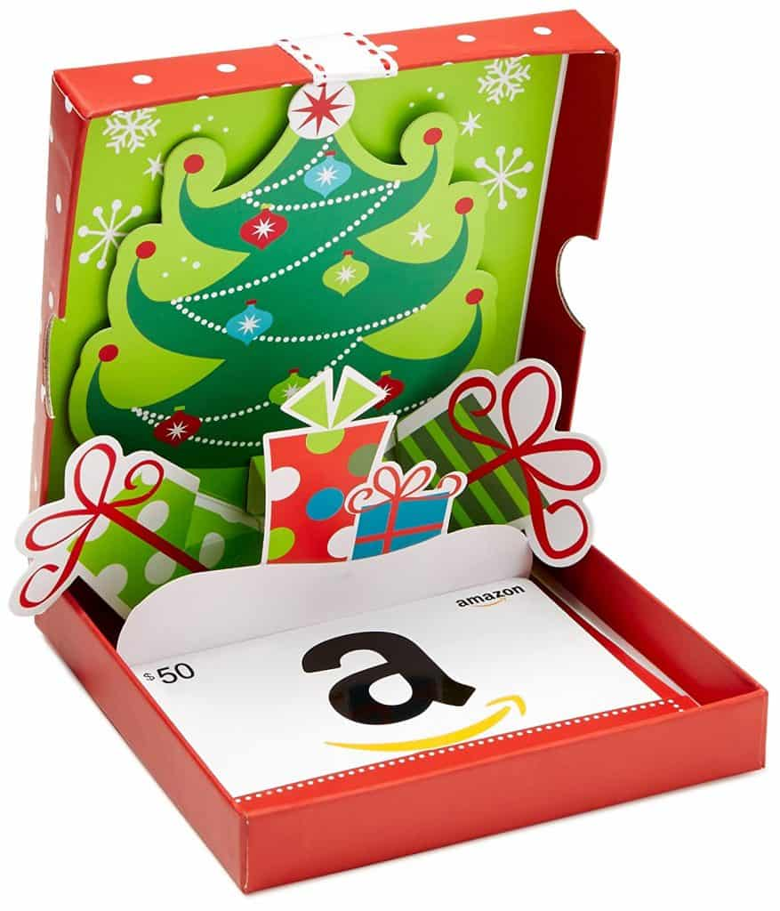 stocking stuffer ideas for men: Amazon.com $50 Gift Card in a Holiday Pop-Up Box