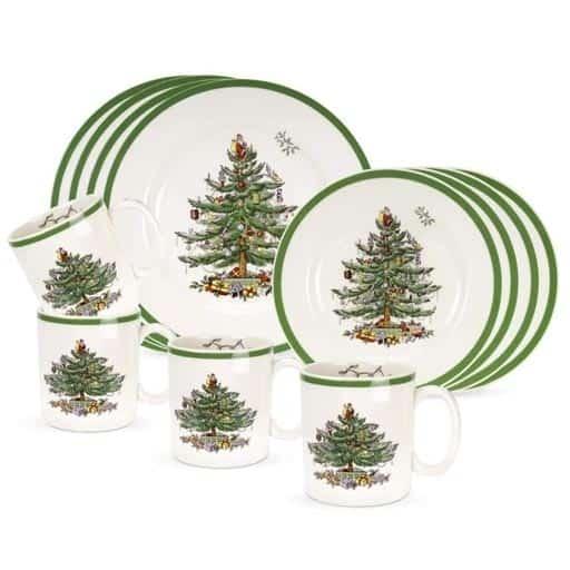 Christmas Tree Dinnerware Set - Christmas gifts for grandma