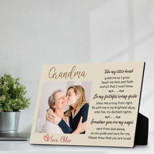 Desktop Photo Plaque - Christmas gifts for grandma