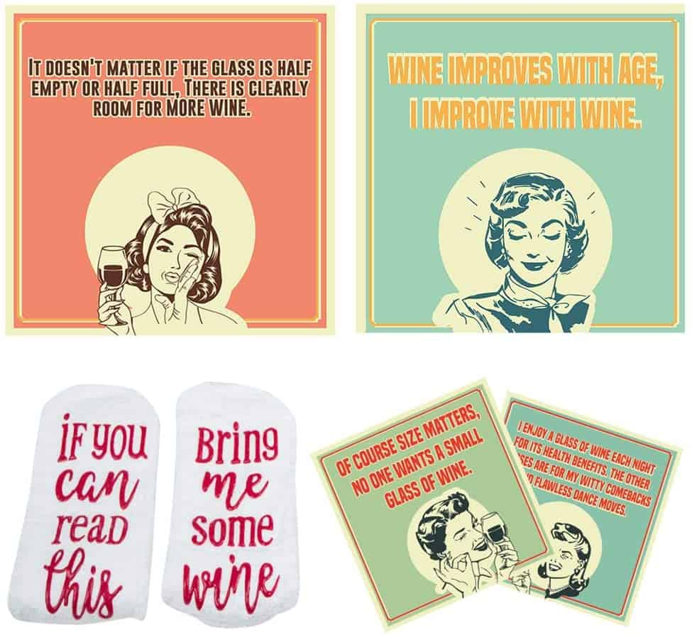 Wine Coasters Set For Mother In Law