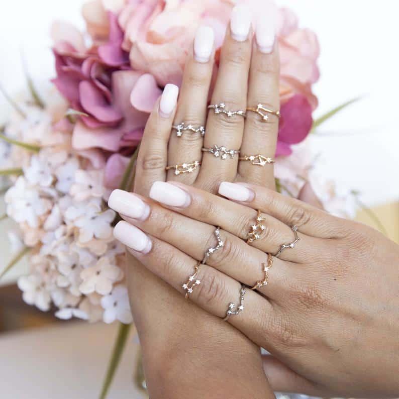 stocking stuffer ideas for women: Zodiac Sign Ring