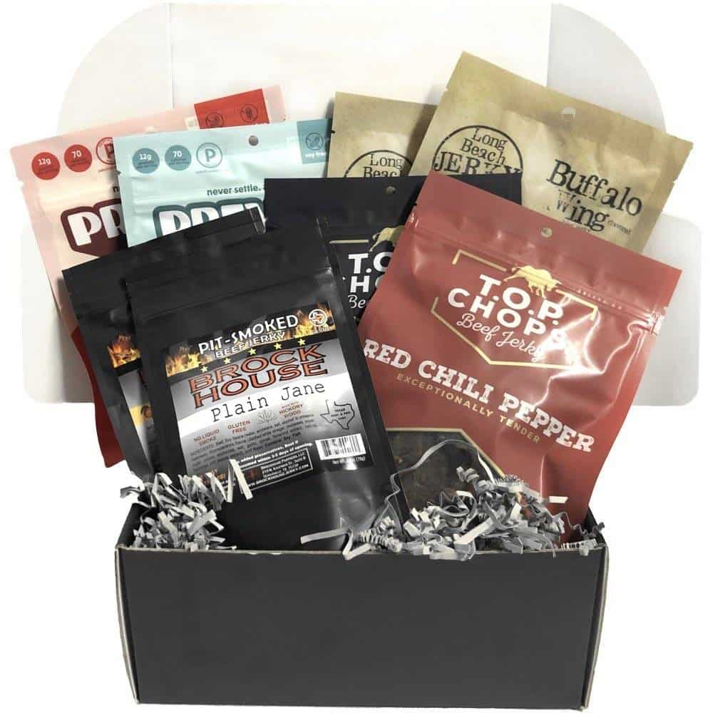 gifts for men: beef jerky subscription box