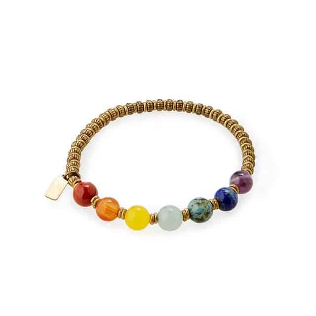 gifts for yogis: chakra gemstone bracelet