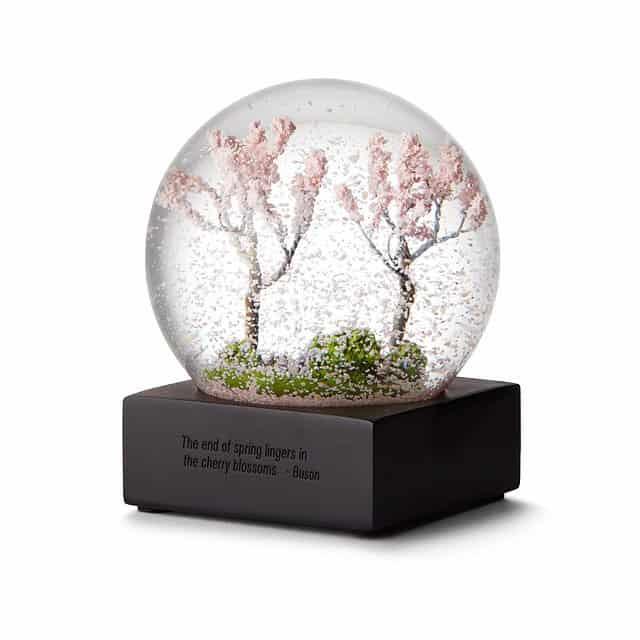women stocking stuffers: cherry blossom snow globe