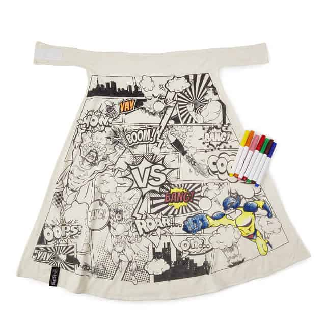 stocking stuffer ideas for boys: Color Your Own Super Hero Cape
