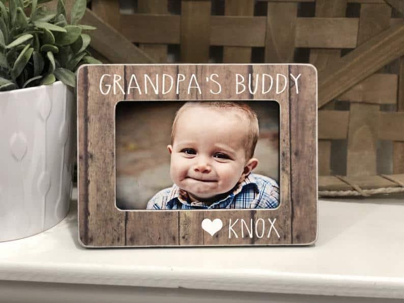 gifts for grandpa: grandpa's buddy custom photo frame