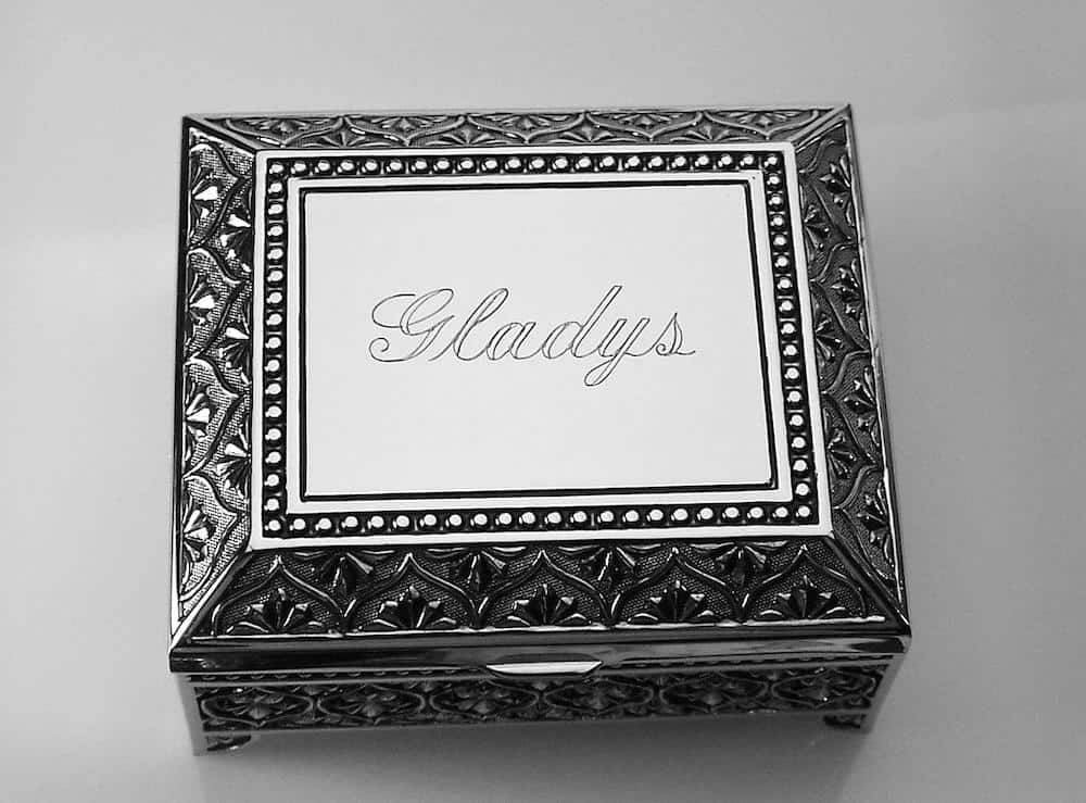 engraved jewelry box for mother-in-law on Mother's Day