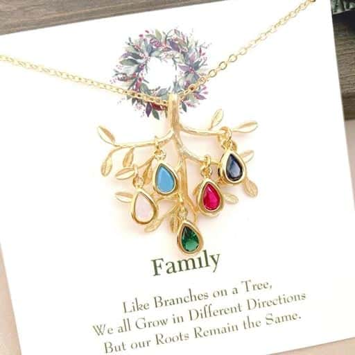 Family Tree Necklace - Christmas Gifts for Grandma