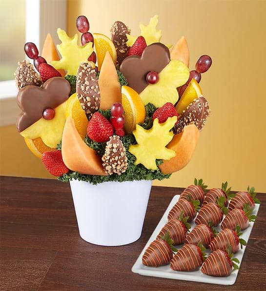 unique christmas gifts for moms: a fruit bouquet