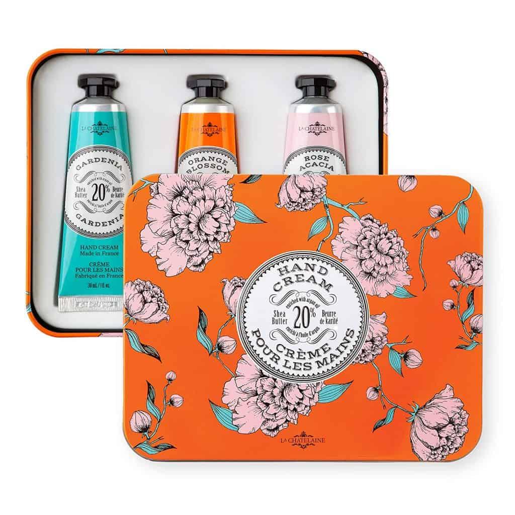 stocking stuffer ideas for wife: La Chatelaine Hand Cream Trio