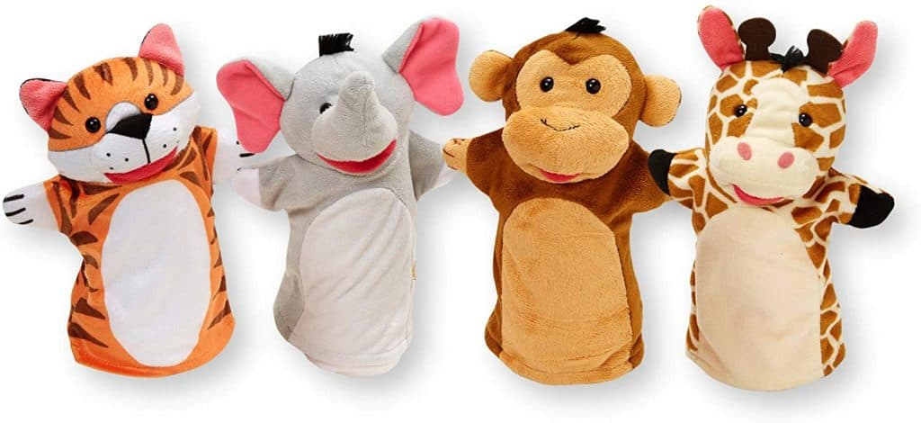 stocking stuffers for little girls: Zoo Friends Hand Puppets