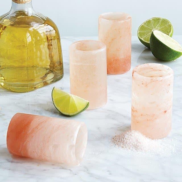 stocking stuffer ideas: Himalayan Salt Tequila Glasses