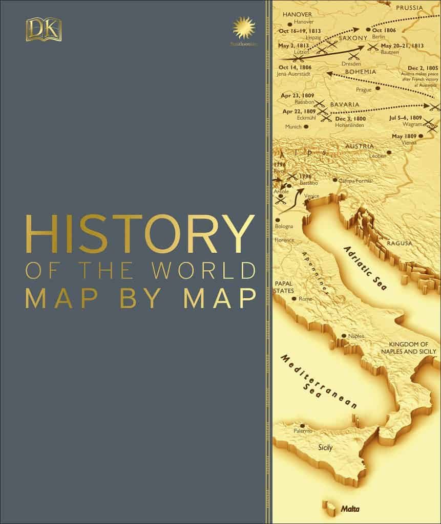gift ideas for men who love history: History of the world map by map