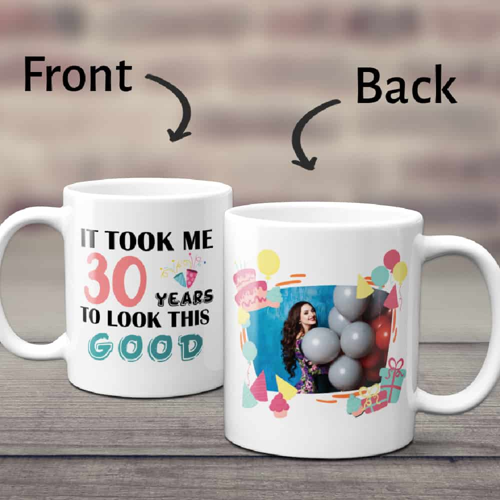 a birthday photo mug for mother-in-law with a quote