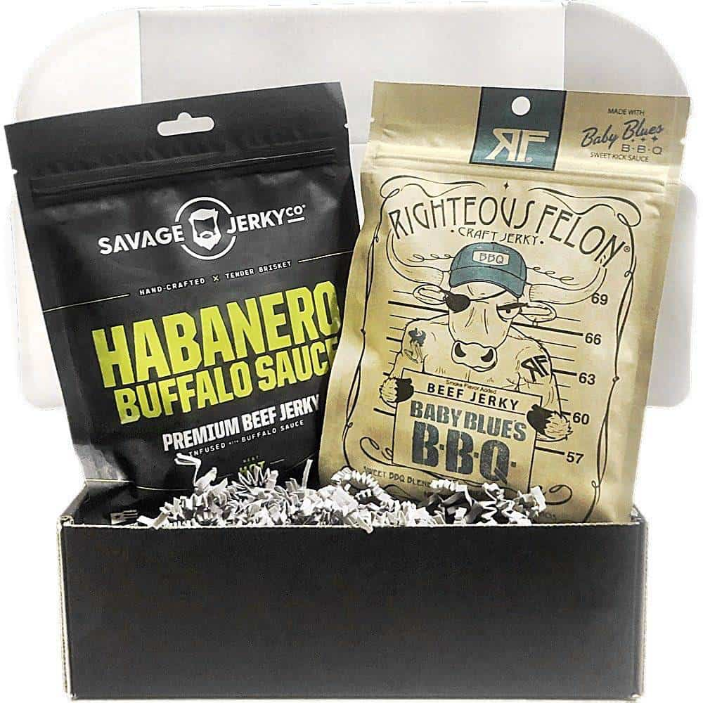 gifts for meat lovers: beef jerky subscription