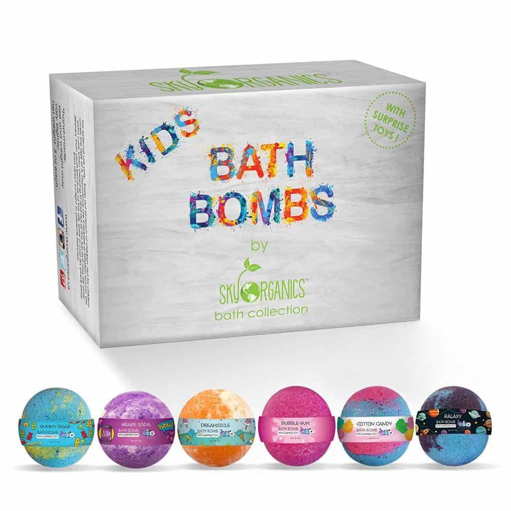 kids stocking stuffer ideas: kids bath bombs gift set
