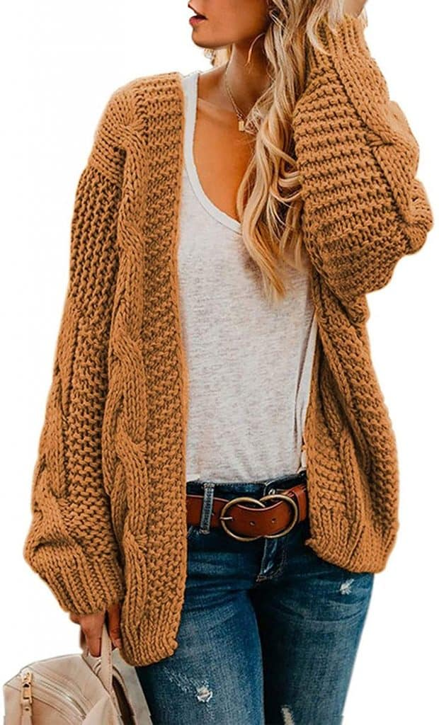 top gift for mom: Chunky Knit Cardigan Sweaters