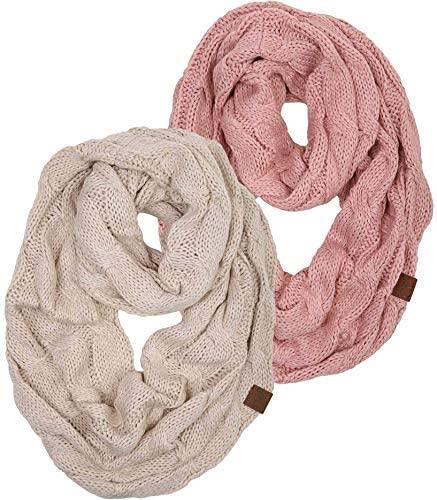 women stocking stuffers: knit infinity scarf