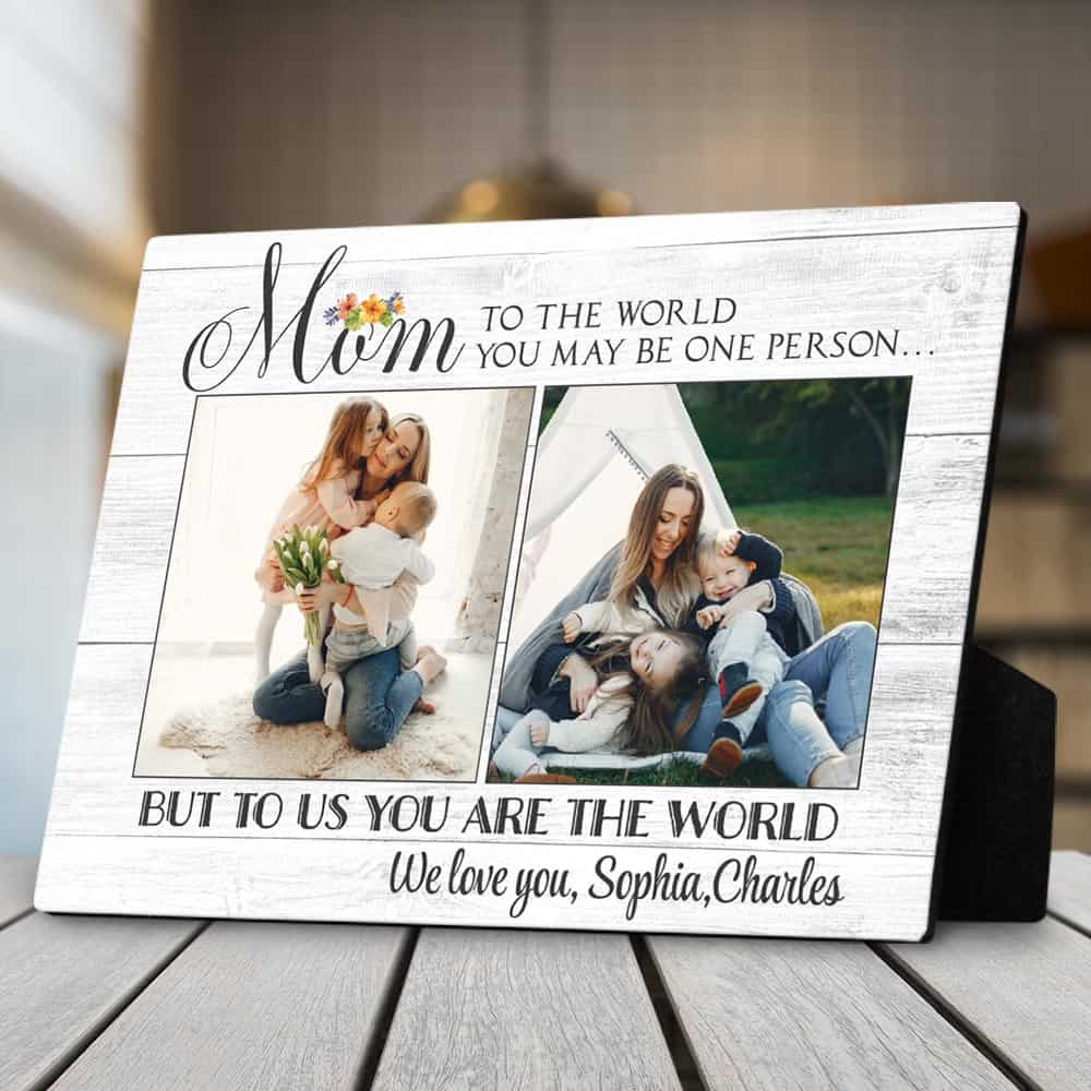 great christmas gifts for mom: photo plaque