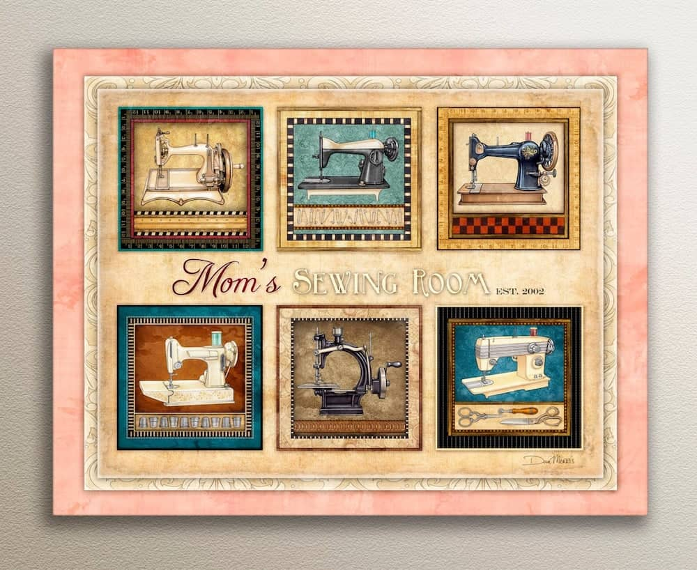 mom's sewing room art print - gift for mother-in-law