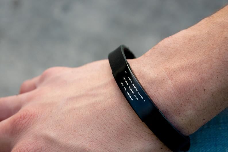 gifts for men: custom morse code bracelet