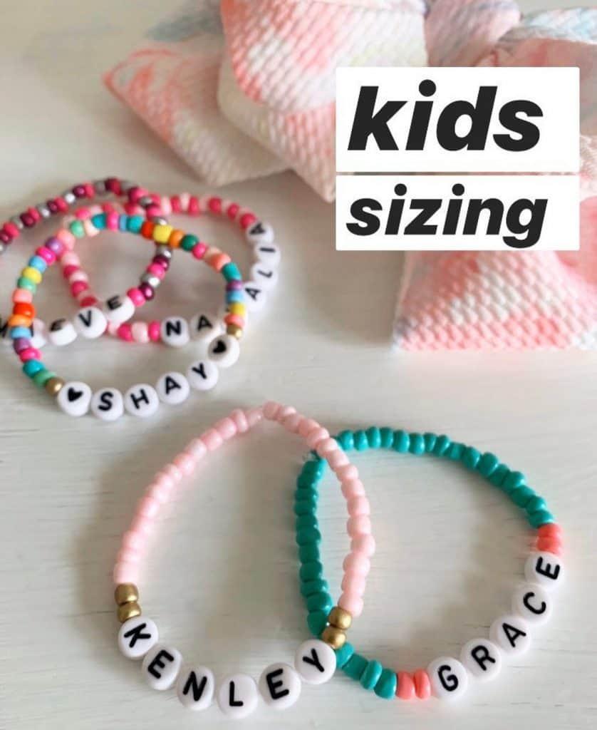 cheap stocking stuffer ideas: name beaded bracelet