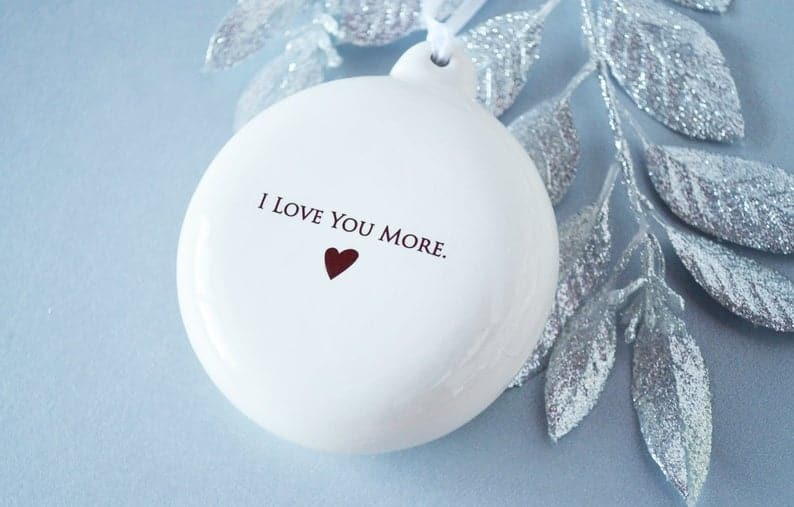 top christmas gift for mom: Personalized Bulb Ornament