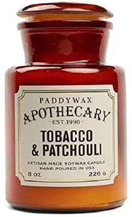 scented candles for men: paddywax apothecary Tobacco & Patchouli Scented Wax Candle