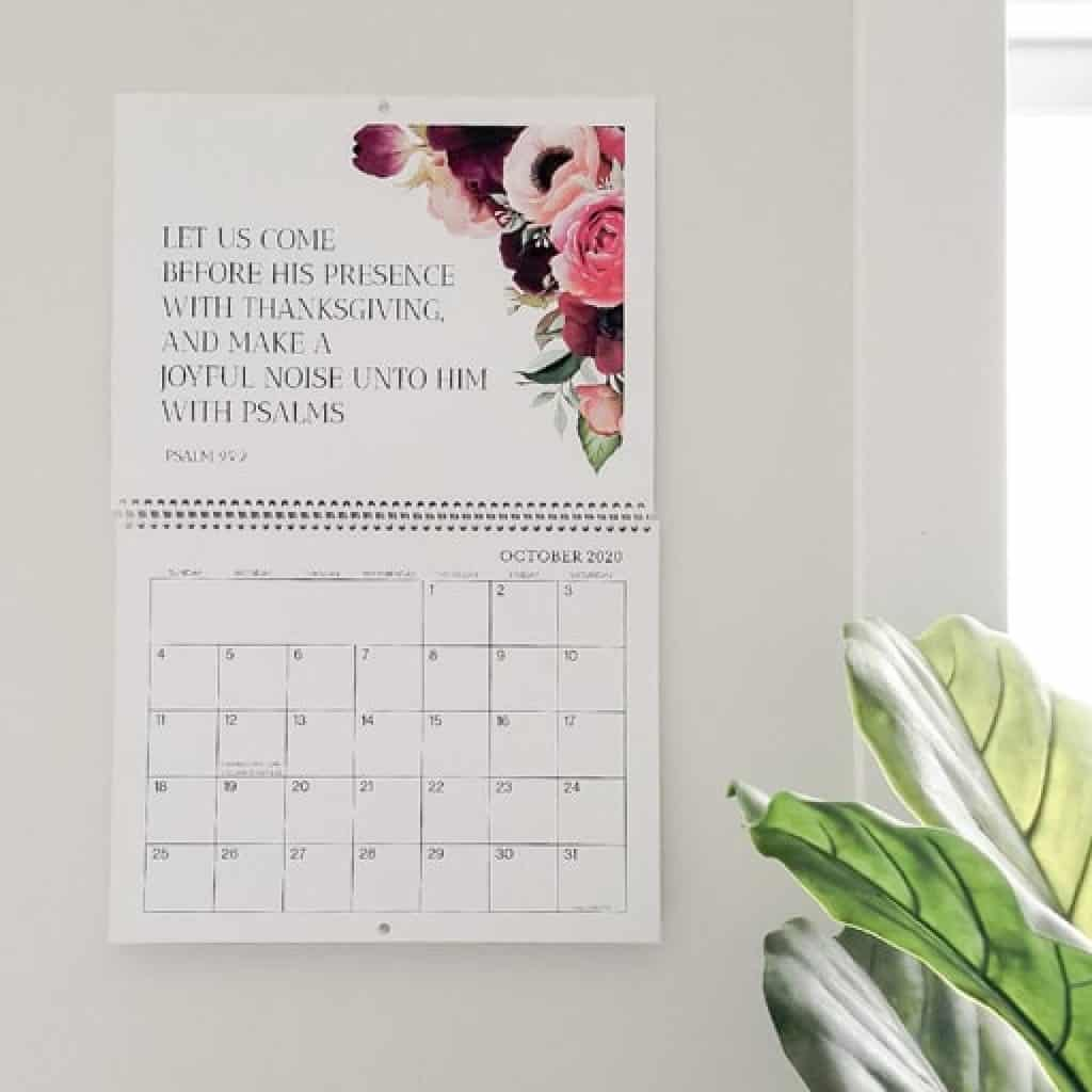 wall calendar - Christian gifts for women